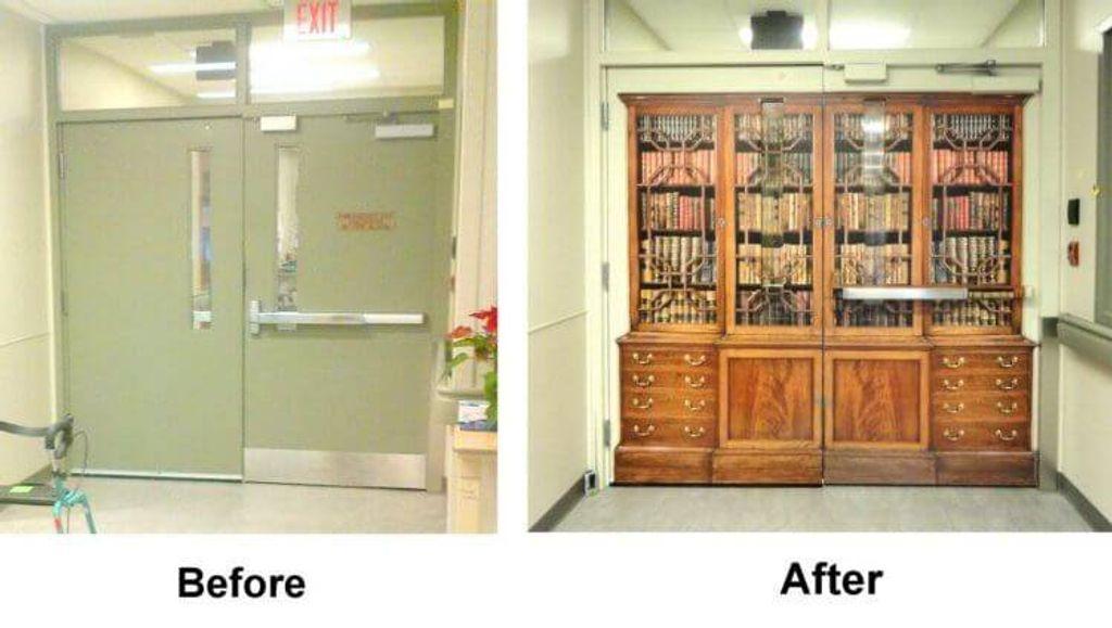 Doors designed by Karen Romeril, Creative Art, Ontario.