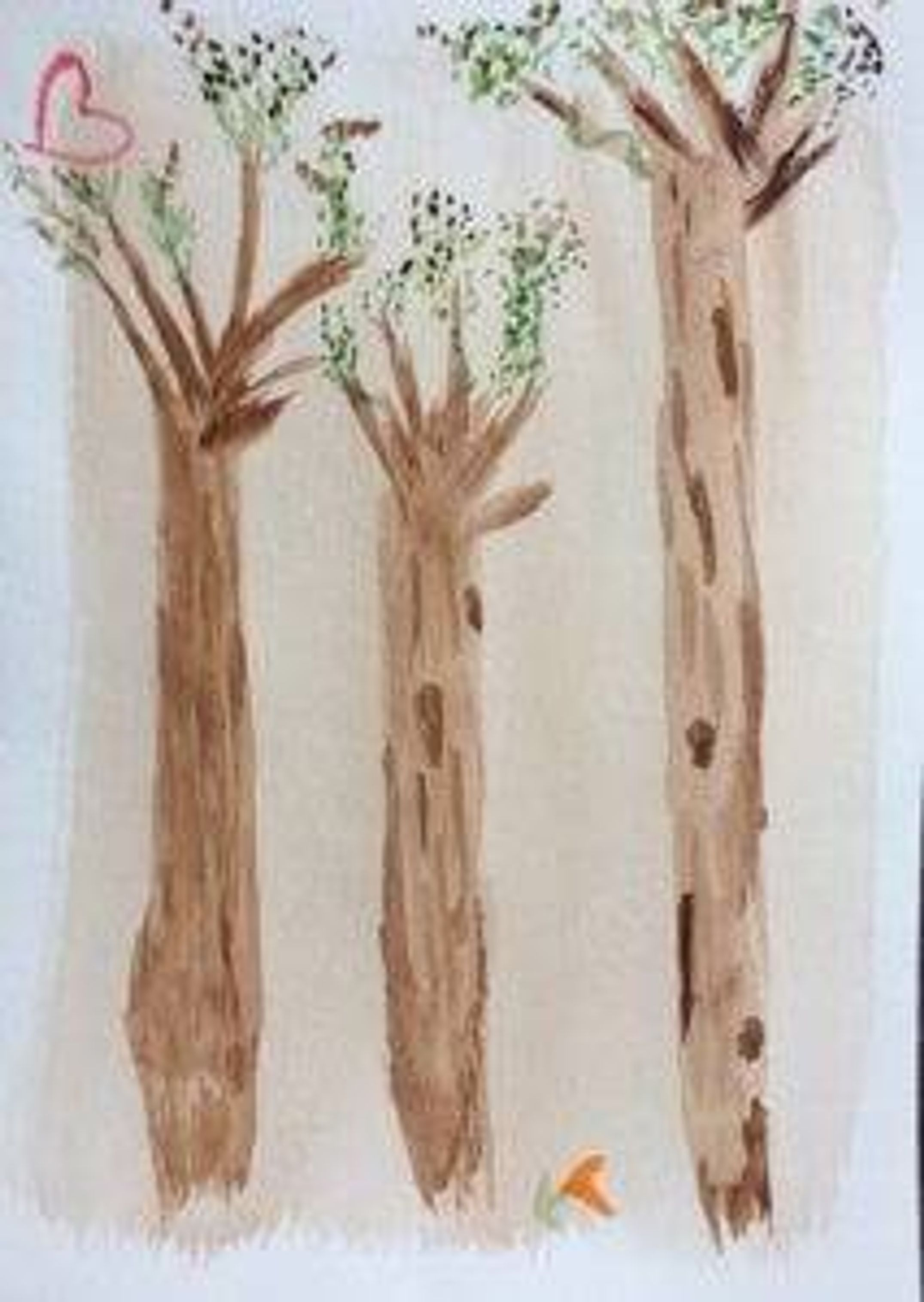 Watercolor picture of trees