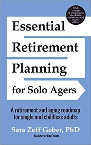 Book cover called Essential Retirement Planning for Solo Agers.