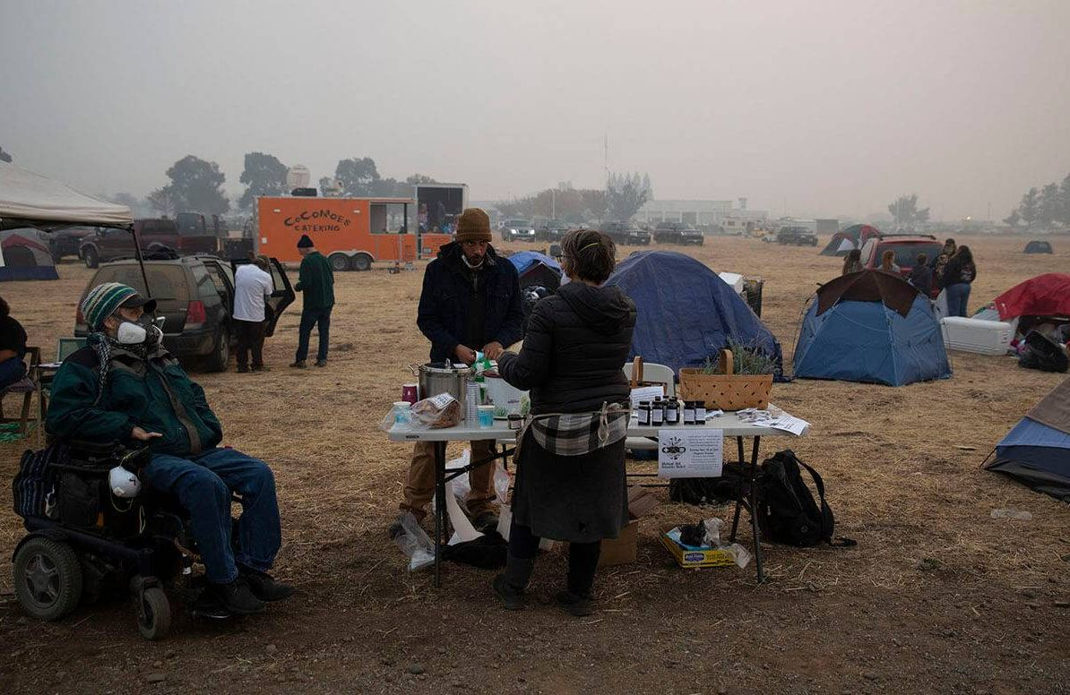 Paradise Lost- Wildfire Chases Seniors From Retirement Havens To Field Hospitals