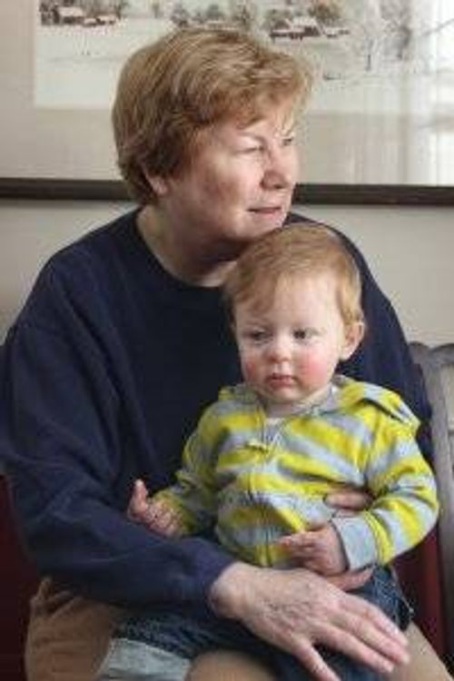 Ginny Lowe Connors with her grandson Will