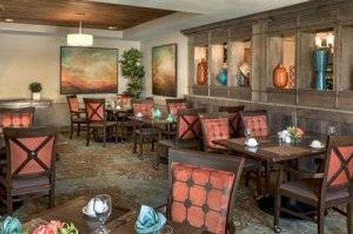The comfy dining area at the Pathway to Living assisted living community in Prospect Heights, Ill.