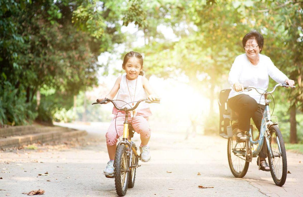 Exercising With Grandchildren