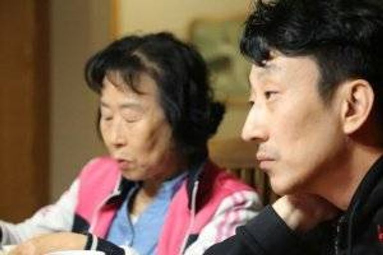 Layne Fostervold and his Korean mother in Willmar, Minnesota.