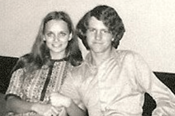 June Perry and Charley Bradley, soon after meeting in 1971