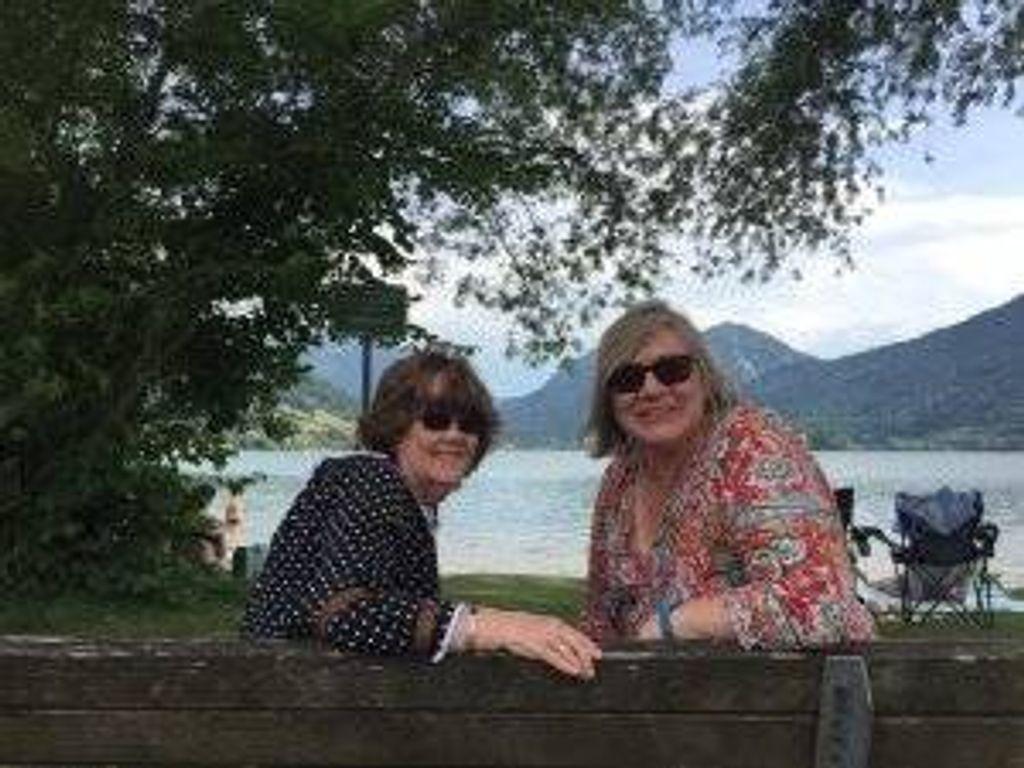 Author Kerri Fivecoat-Campbell (r) and her Australian exchange daughter, Angela