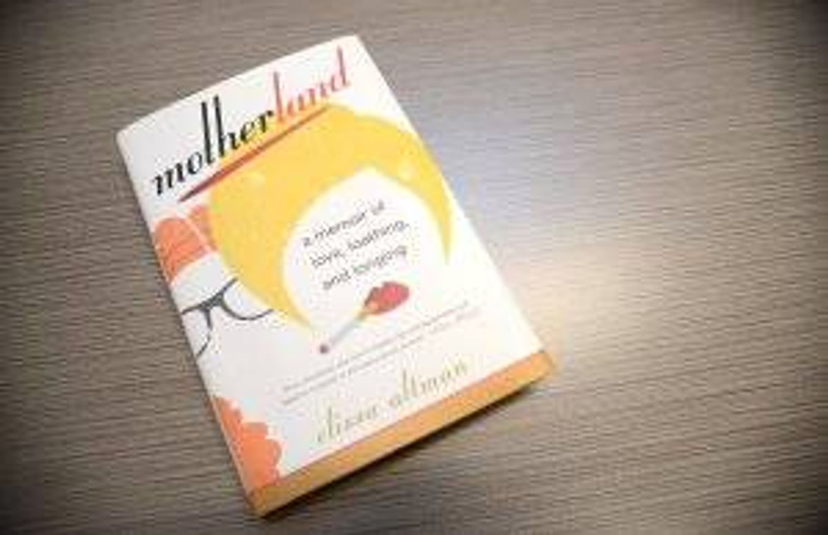 cover of the book motherland which features a graphic of an outline of hair and lips smoking a cigarette