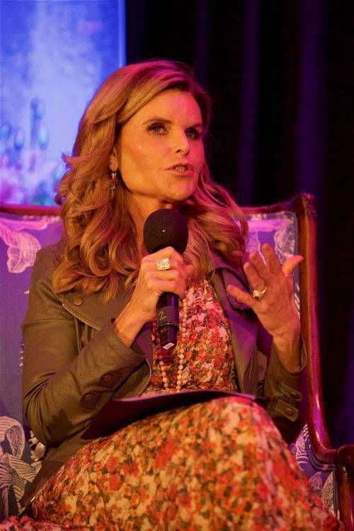 Maria Shriver speaks at the Purple Evening event hosted Oct. 10, 2019, by The Kensington Redondo Beach assisted living community in Redondo Beach, Calif.