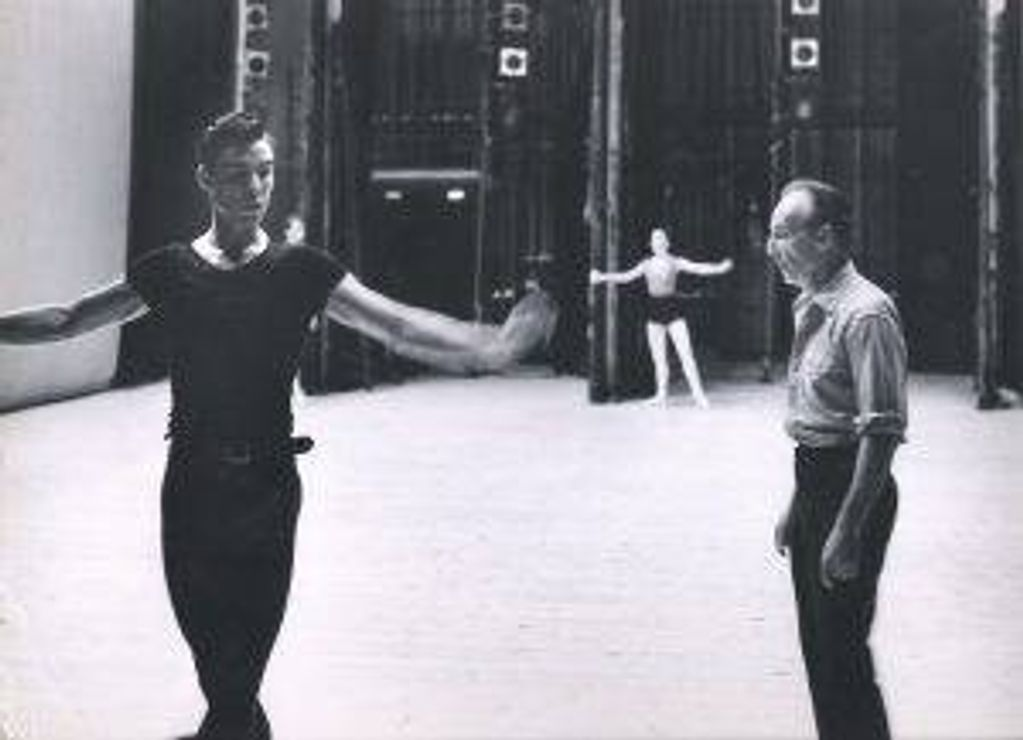 Jacques d'Amboise with George Balanchine in Seattle in 1962
