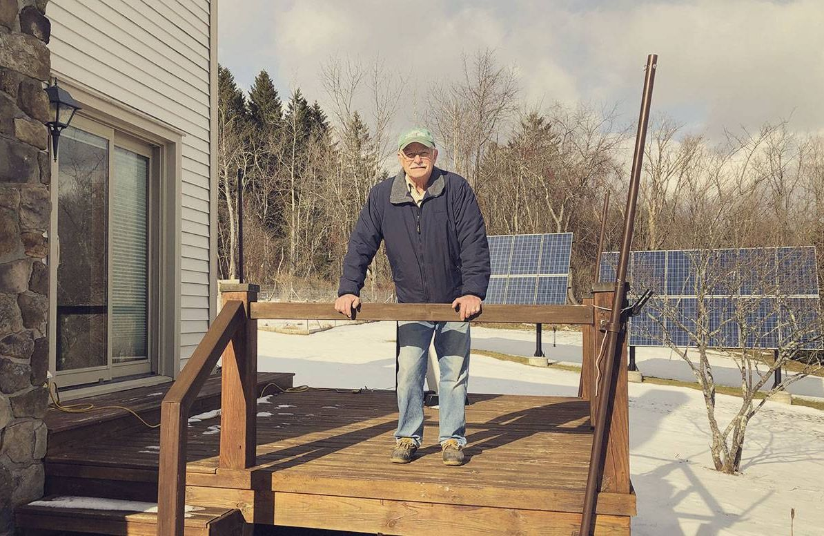 Bill Rice says his solar array covers 80% of his electricity use, averaged year-round, at his home in upstate New York.