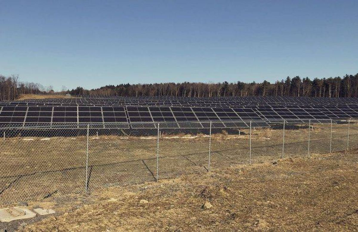 NexAmp's Westerlo community solar farm in Greene County, New York. The company has constructed more than 100 such arrays in seven states.