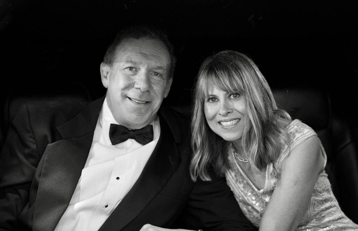 Lisa Kanarek and her husband Perry on their wedding day