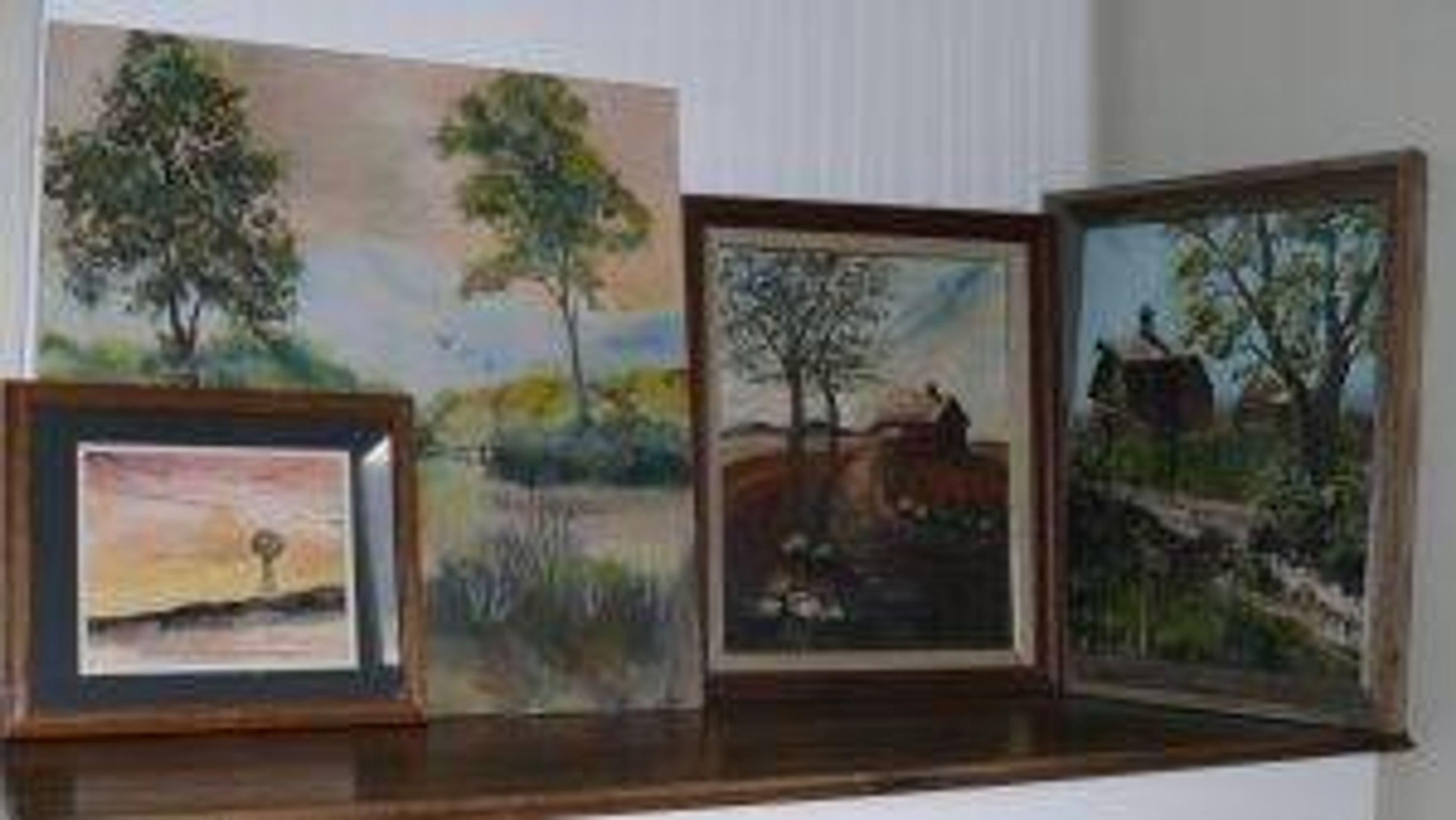 DeAnne Mack's landscape paintings.