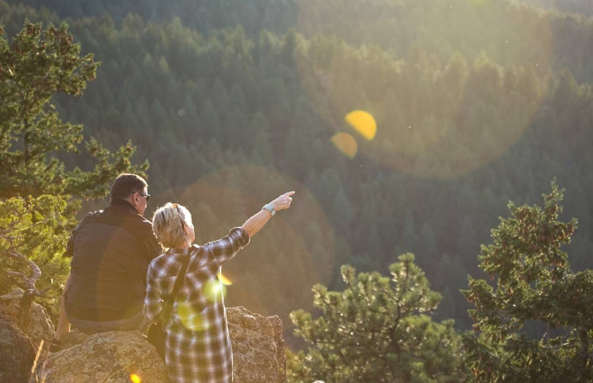 Older couple adventuring
