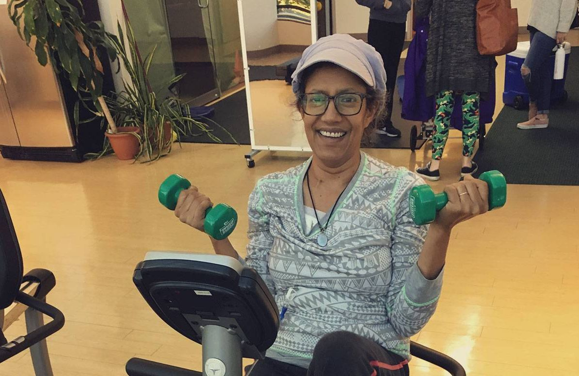 Jasmine Guha-Castle prefers a 'whole-person' approach to cancer treatment, which she receives at the Block Center for Integrative Cancer Treatment
