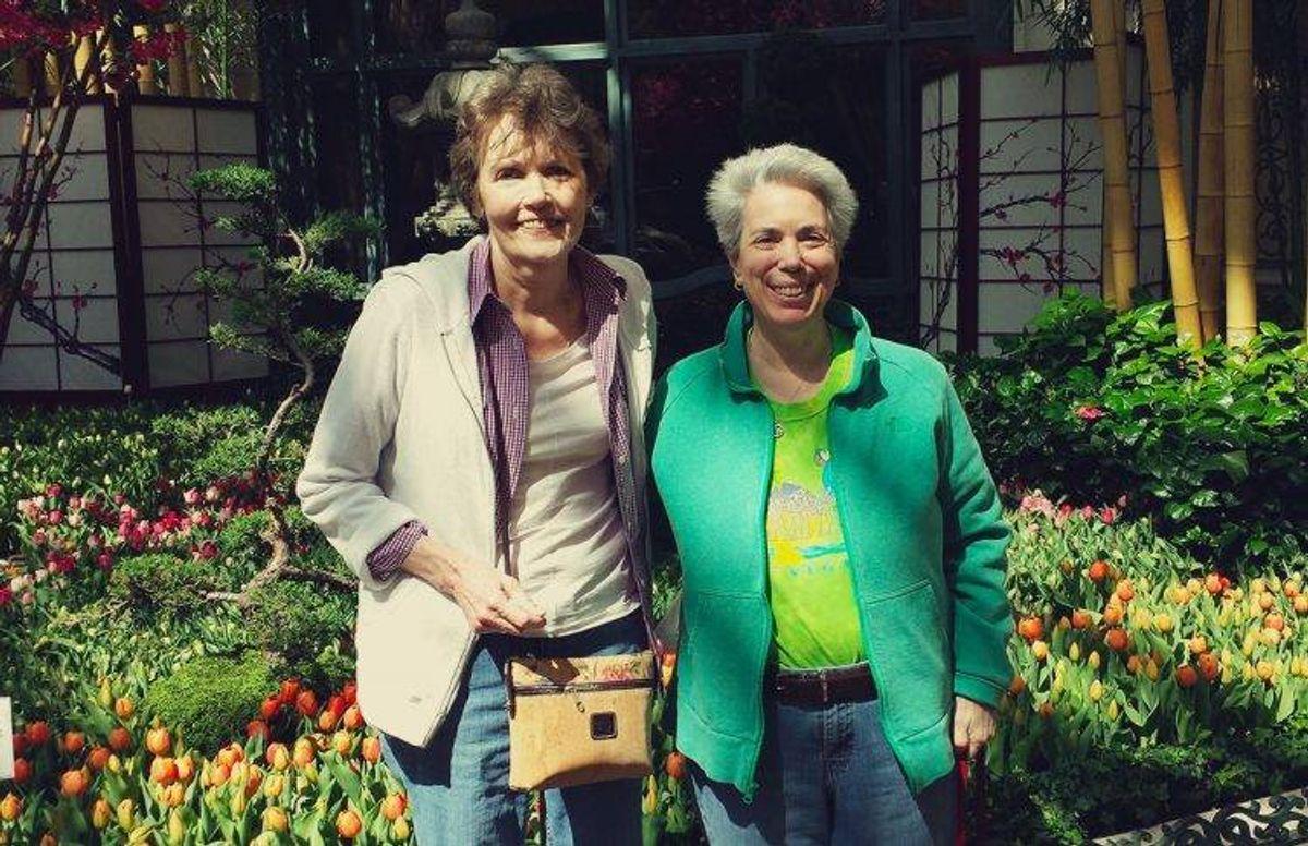 Carol Riddell (left) and Debbie Joffe