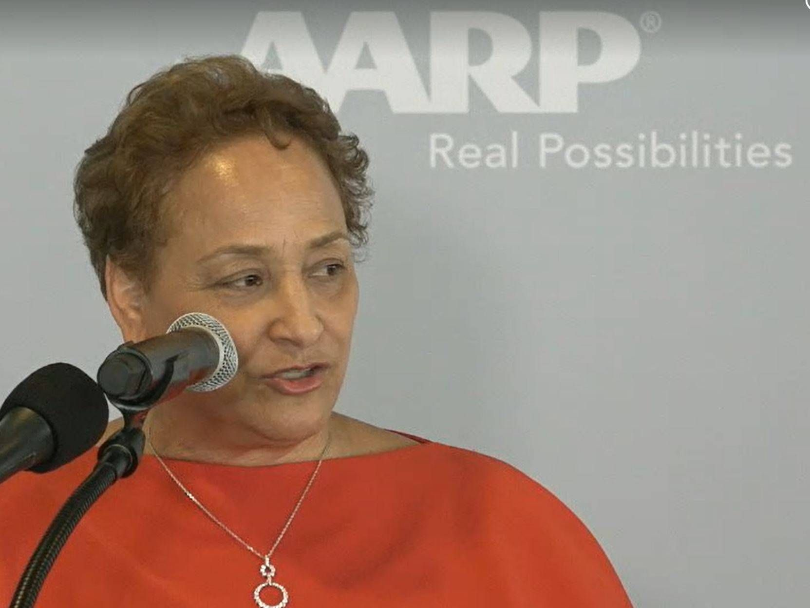 AARP CEO Jo Ann Jenkins at UN event.