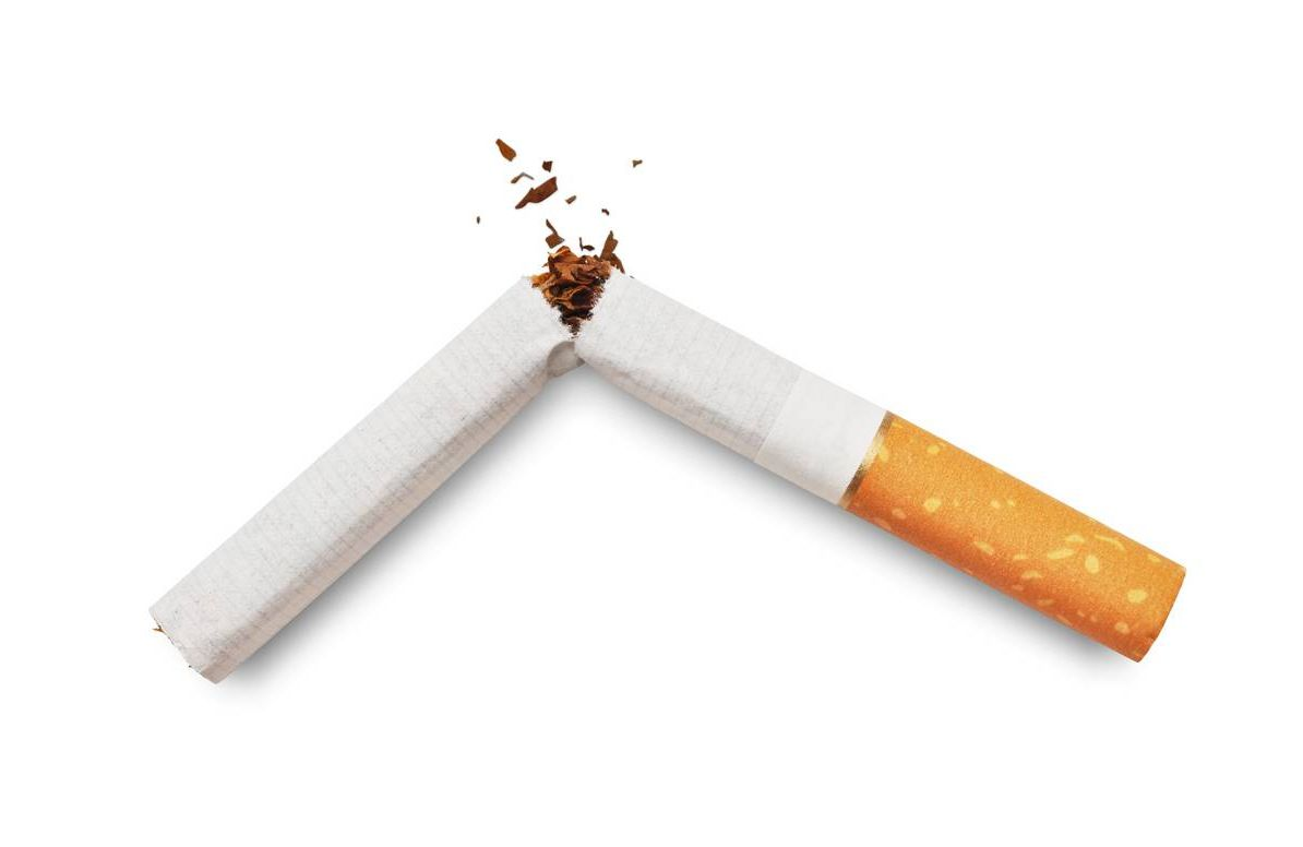 A crushed cigarette