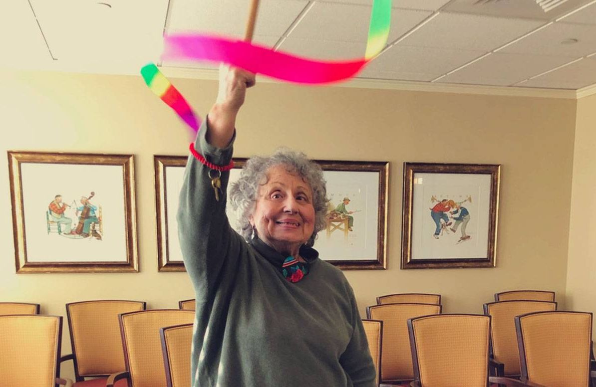 Linda Greenebaum says Carrington's exercises help her with coordination and balance.
