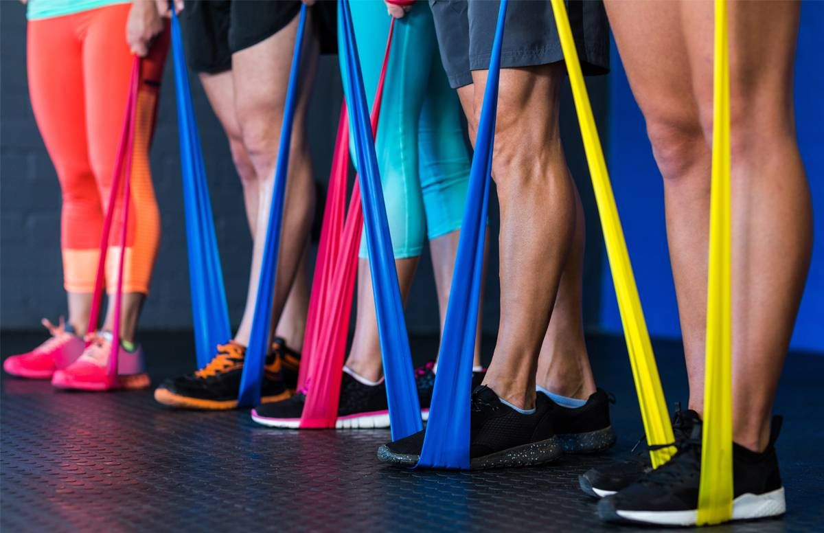 Multi-colored resistance bands