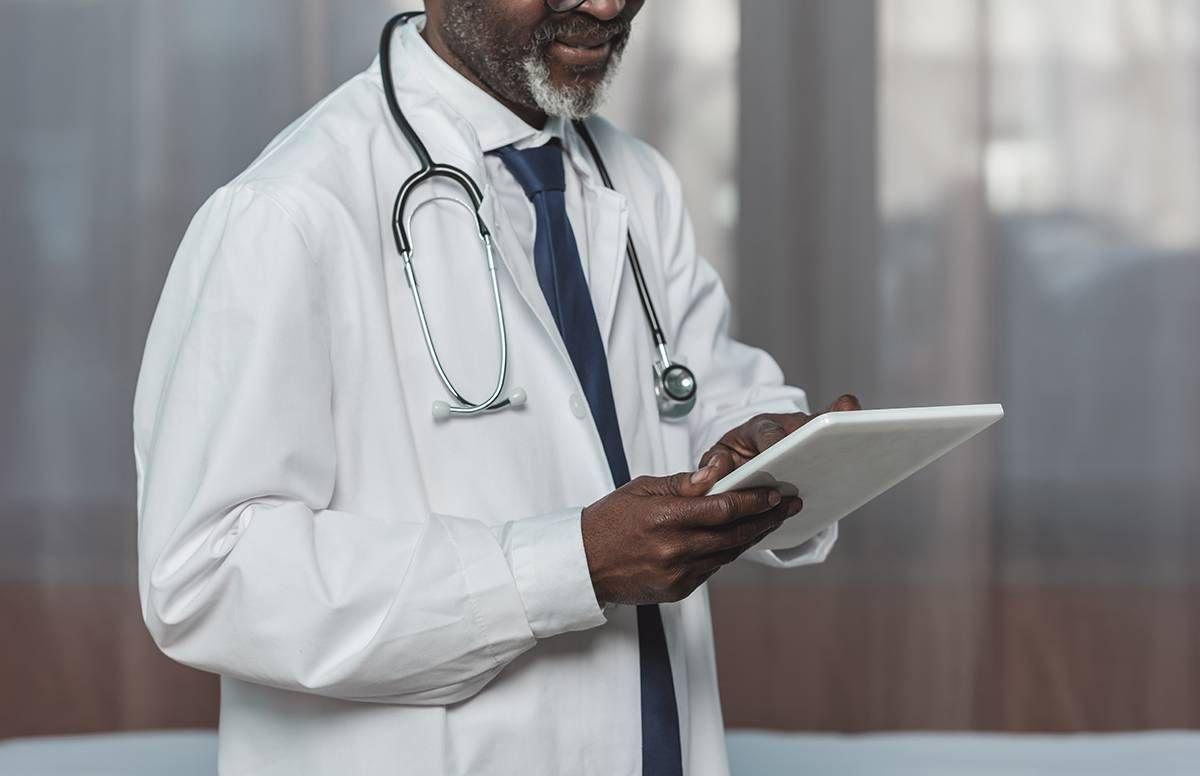older doctor at work