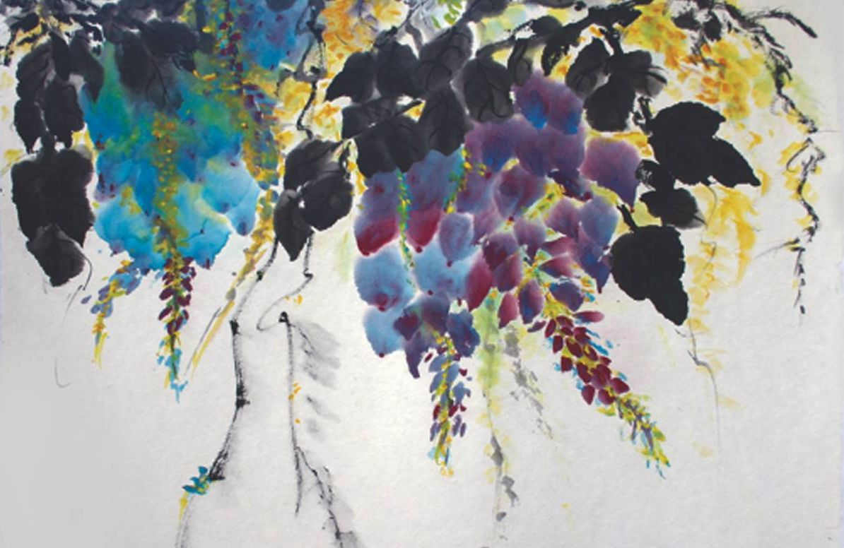 Painting of wisteria by Tisha Kenny