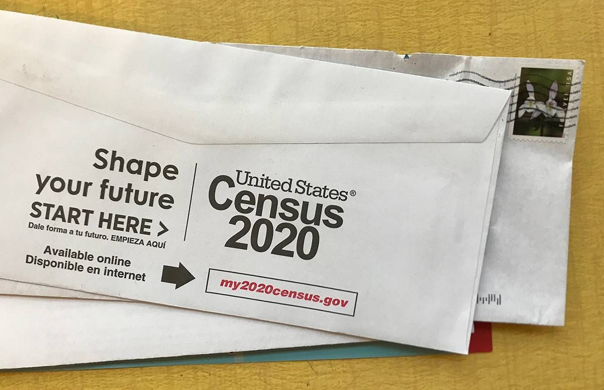 photo of census information that came in the mail