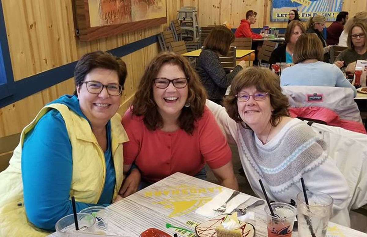 The friends gathered last fall for a weekend. Left to right, Shelly, Lora and Kerri