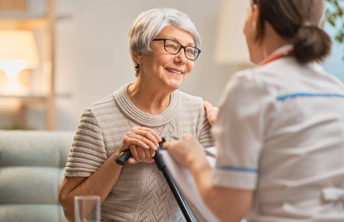 nursing home resident and caregiver