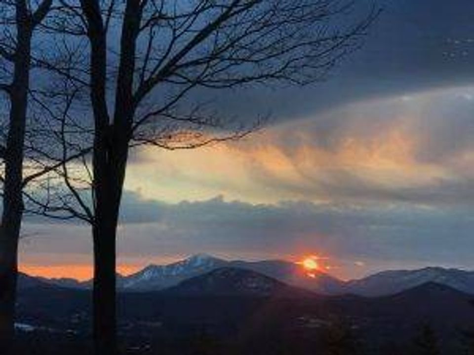 """From her home, reader Melissa H. gazes down at the Adirondack Mountains """"with fond memories of a life well walked."""""""