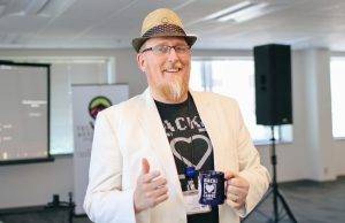 """Says coder Mike Davis of his work, """"I wear a lot of hats."""""""