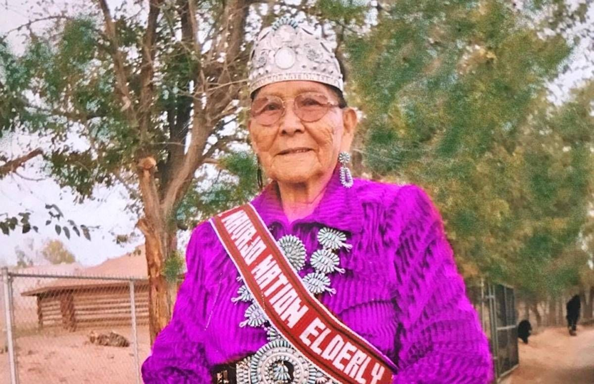 Annette Bilagody served as the 2014 Miss Navajo Nation Elder. She is pictured here at the Western Navajo fair parade