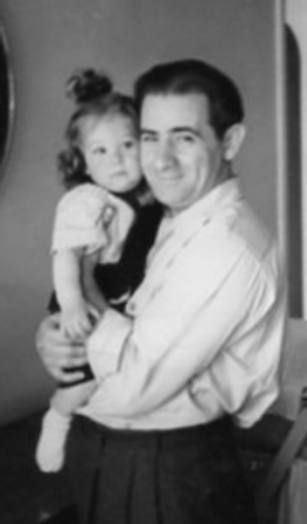 The author as a child with her dad