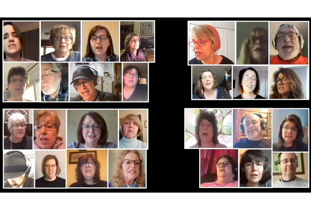"""The multigenerational Rock Voices Albany/Saratoga Virtual Choir sing """"Already Gone"""" by the Eagles"""