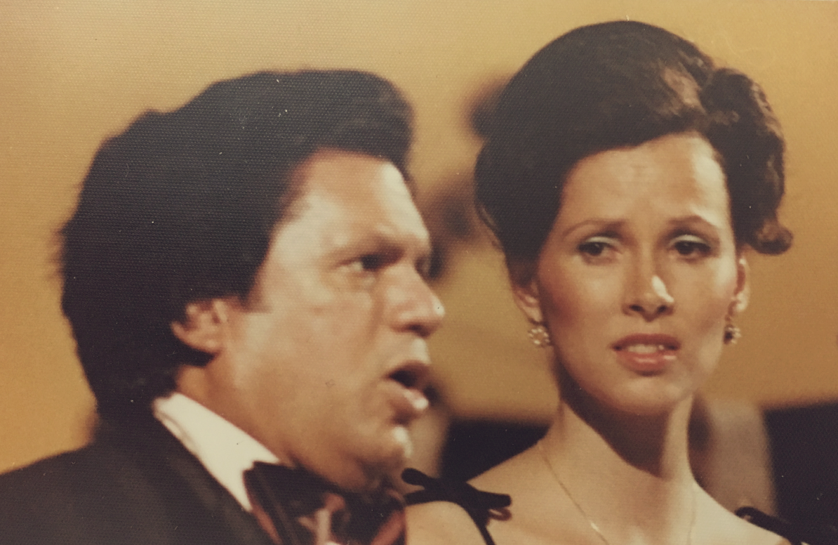 Emilio and Deborah Moscoso perform with the National Symphony Orchestra of Panama August 2, 1979