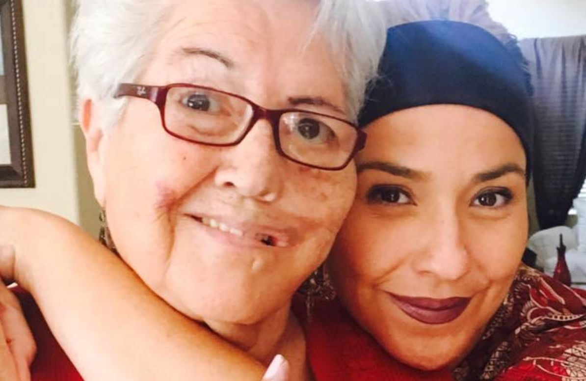 Diana Isabel Tibbs (right) has had success with telemedicine visits for her mother Caroline