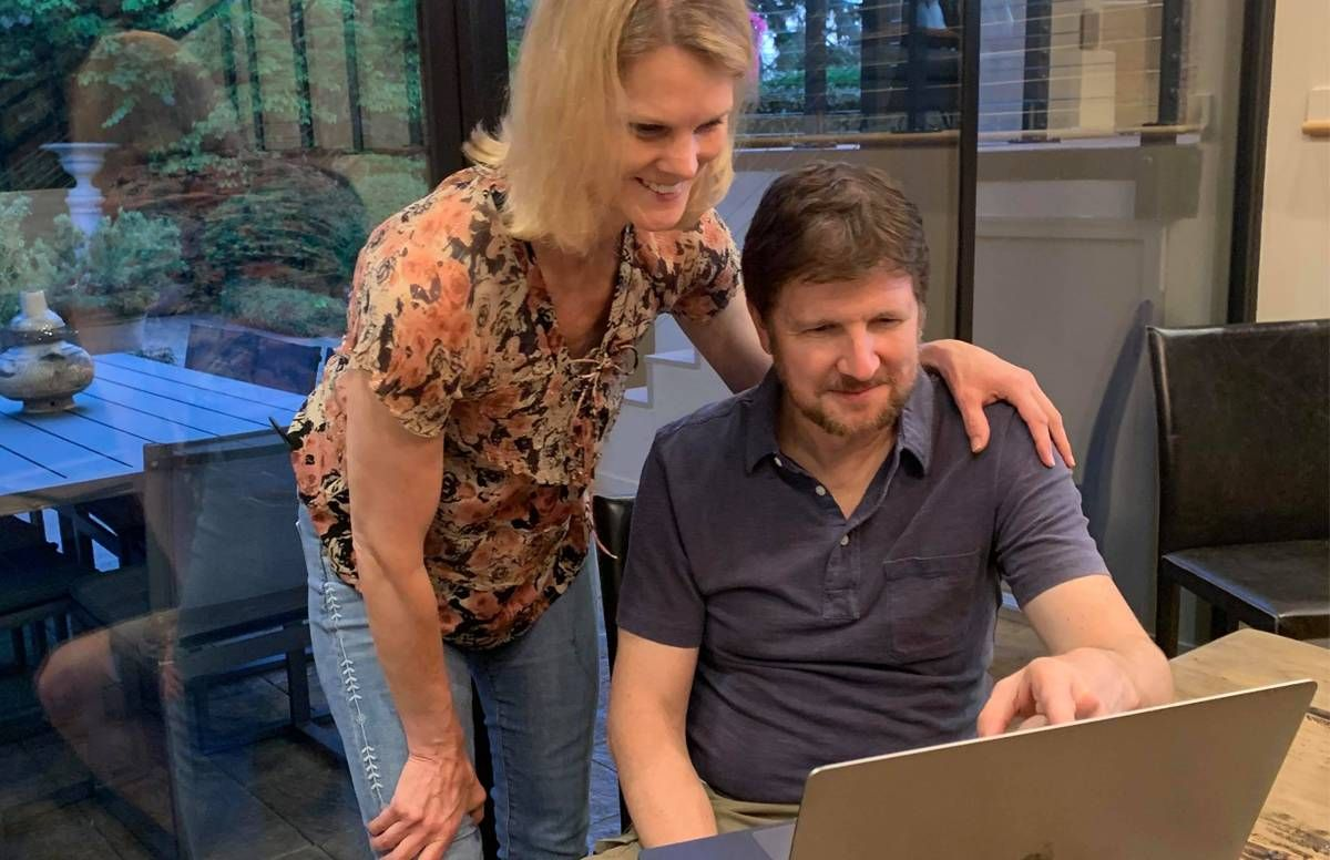 Brad and Debra Aho Willamson now work from home, with daughters nearby