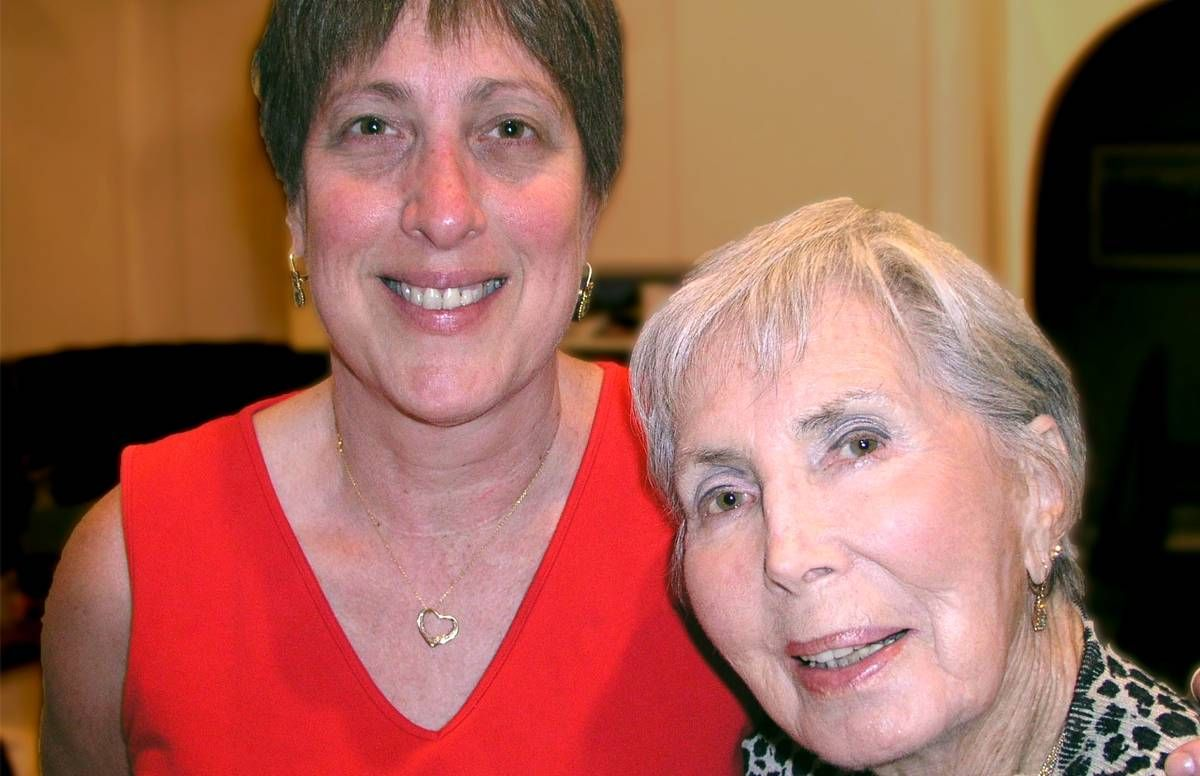 Candy Schulman and her mom, Sylvia