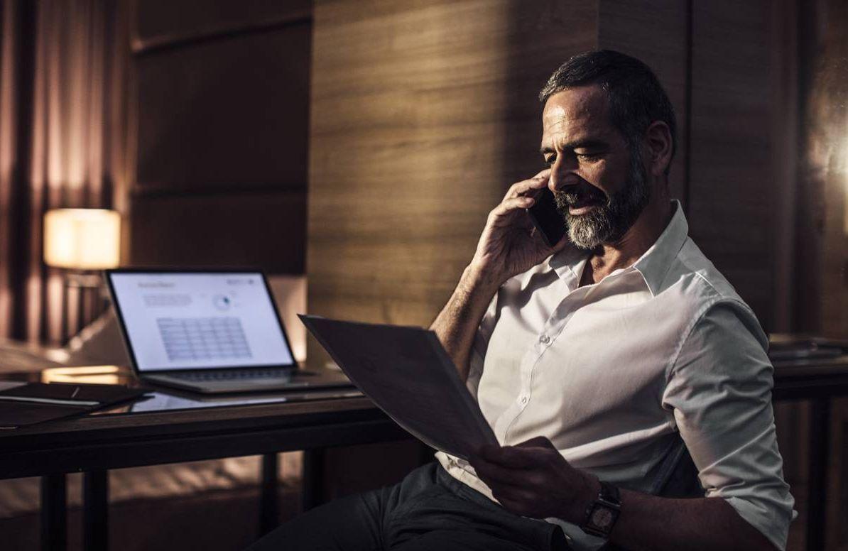 Man enjoying work