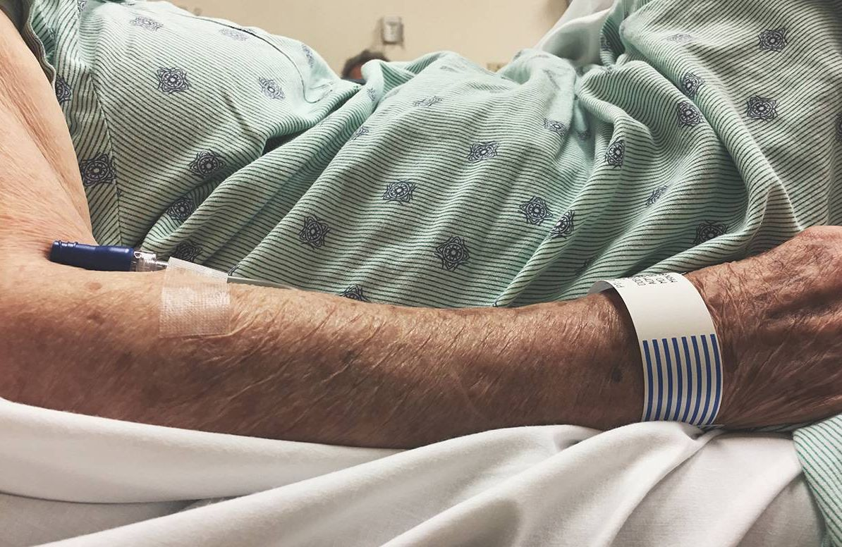 older adult in emergency room