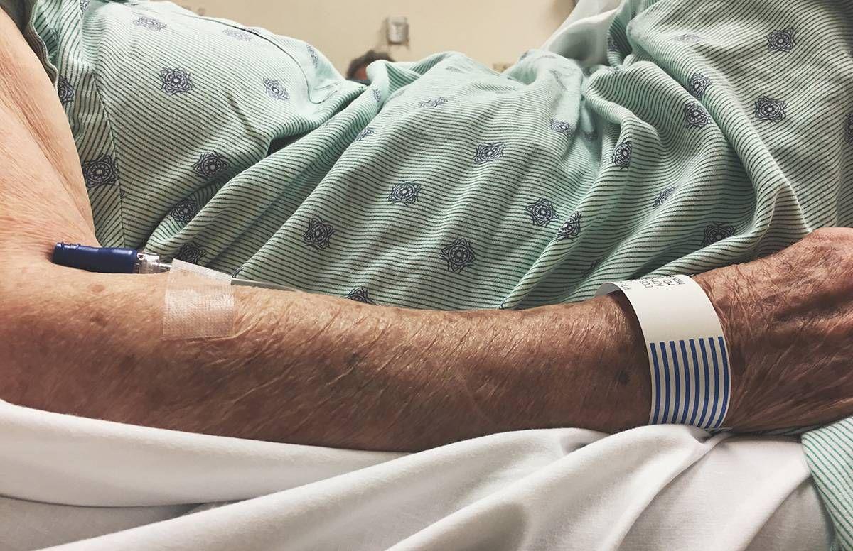 older adult in emergency room