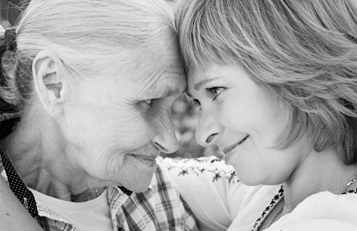 Older woman and caregiver