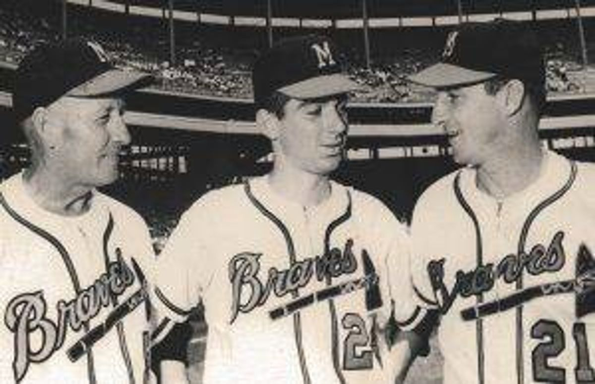 Warren Spahn, Pat Jordan, Whitlow Wyatt