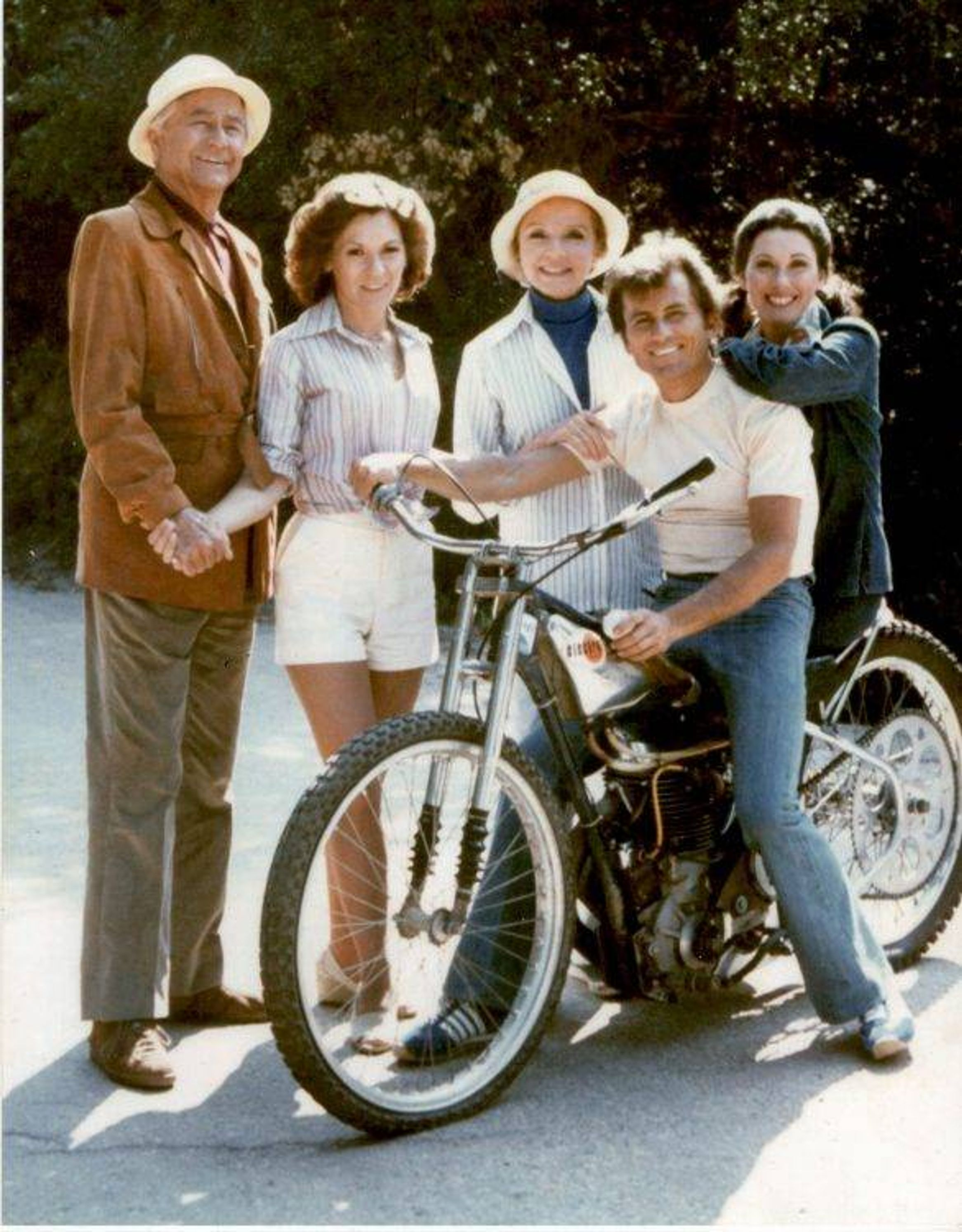 Father Knows Best cast (Billy Gray on bike), 70s