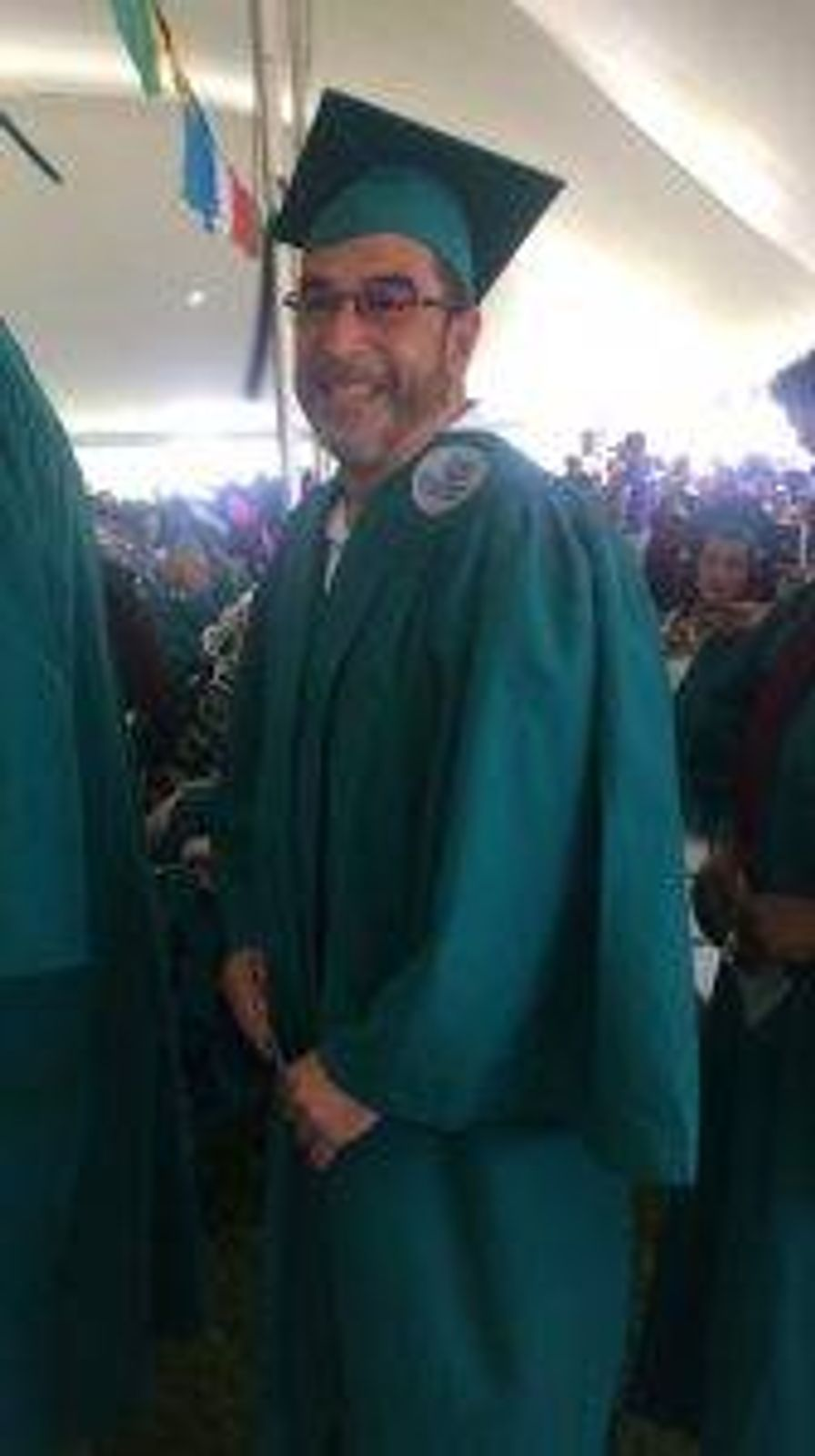 Fernando Vega, a quality inspector at Forrest Machine, in Berlin, Conn., graduated from a training program from Goodwin University in 2019