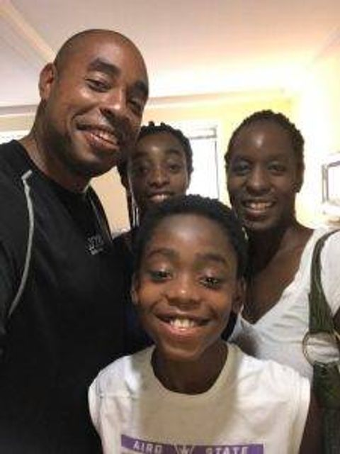 LT Thompson and his family. Courtesy of Simone