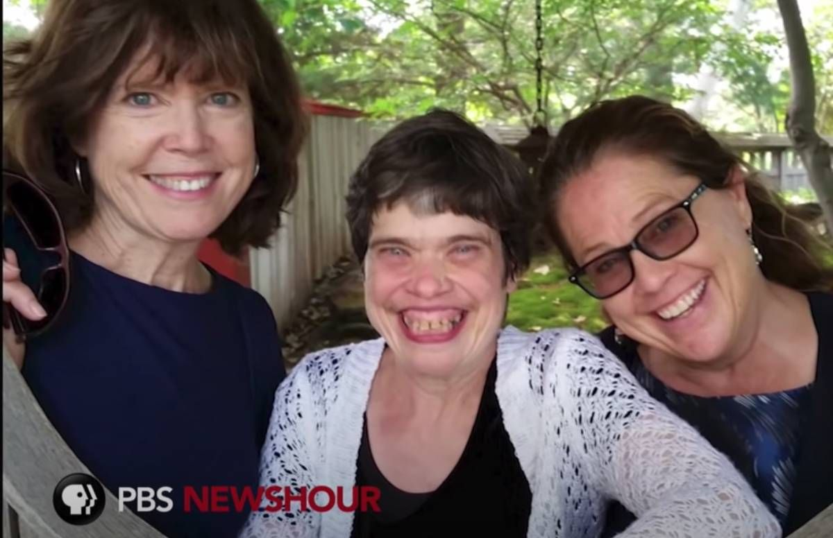 """Still from PBS NewsHour Weekend segment, """"Caring for an Adult Child with Disabilities in Retirement"""""""