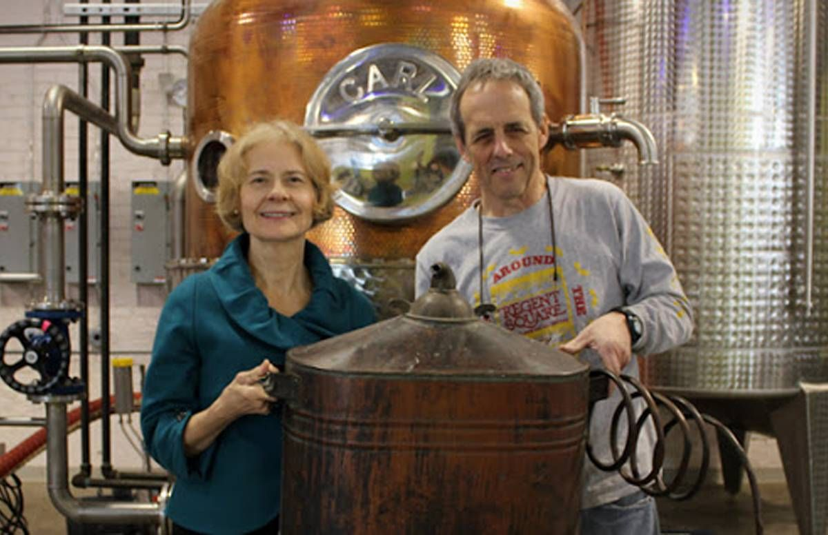 Mark and Mary Ellen Meyer are drinking up strong sales at their Wigle Distillery