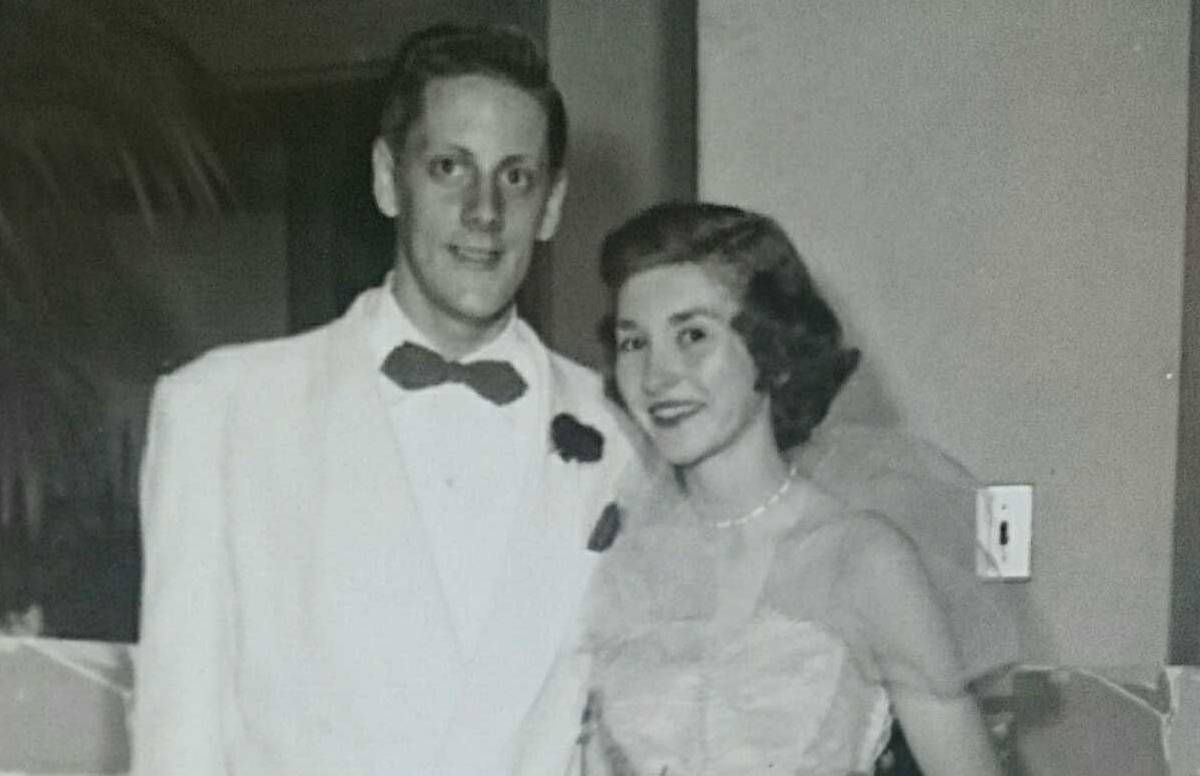 Peter and Eleanor Baker at their high school prom
