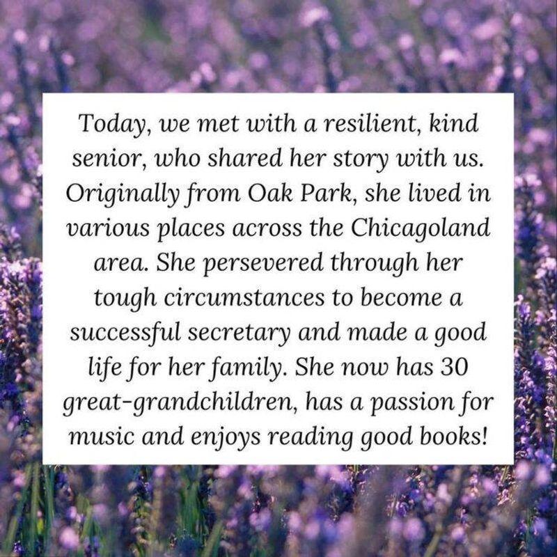 A resident spotlight written by a volunteer